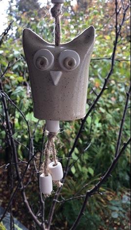 Owl bell Christmas Ornament